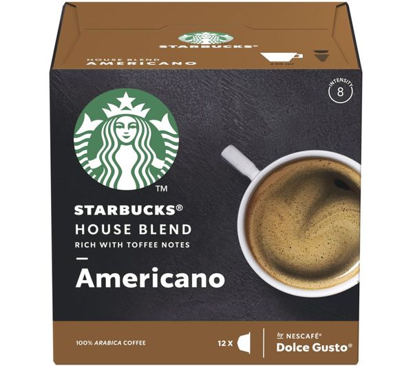 Image of STARBUCKS Dolce Gusto House Blend Americano Coffee Pods - Pack of 12