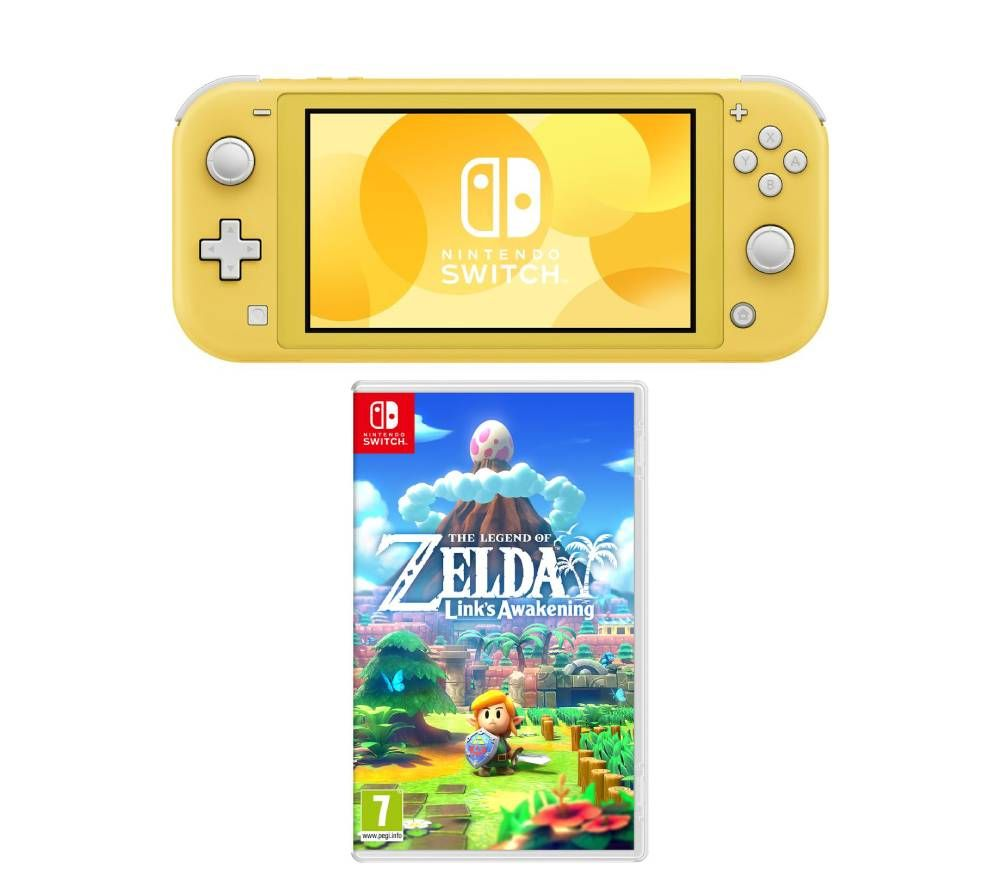 NINTENDO Switch Lite & The Legend of Zelda: Links Awakening Bundle - Yellow