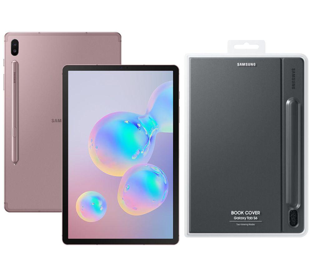 "SAMSUNG Galaxy Tab S6 10.5"" Tablet & Galaxy Tab S6 Cover Bundle - 128 GB, Rose Blush"