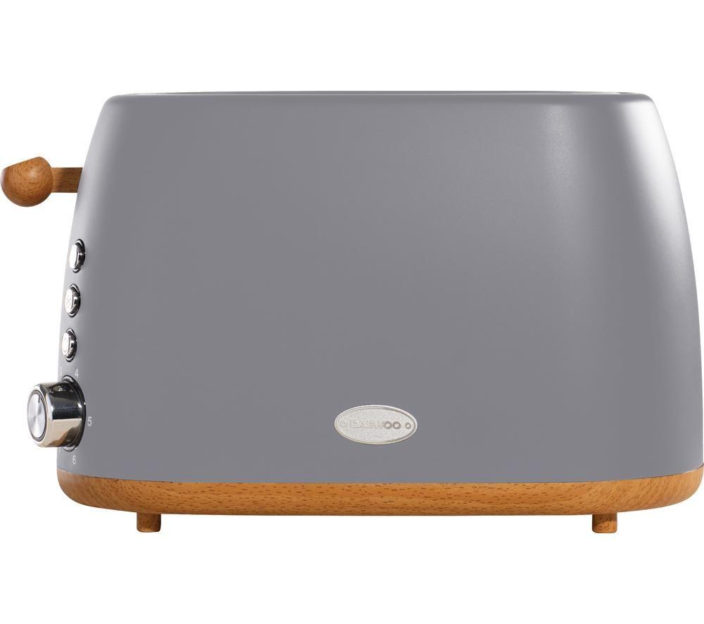 DAEWOO Skandik SDA1703 2-Slice Toaster - Grey