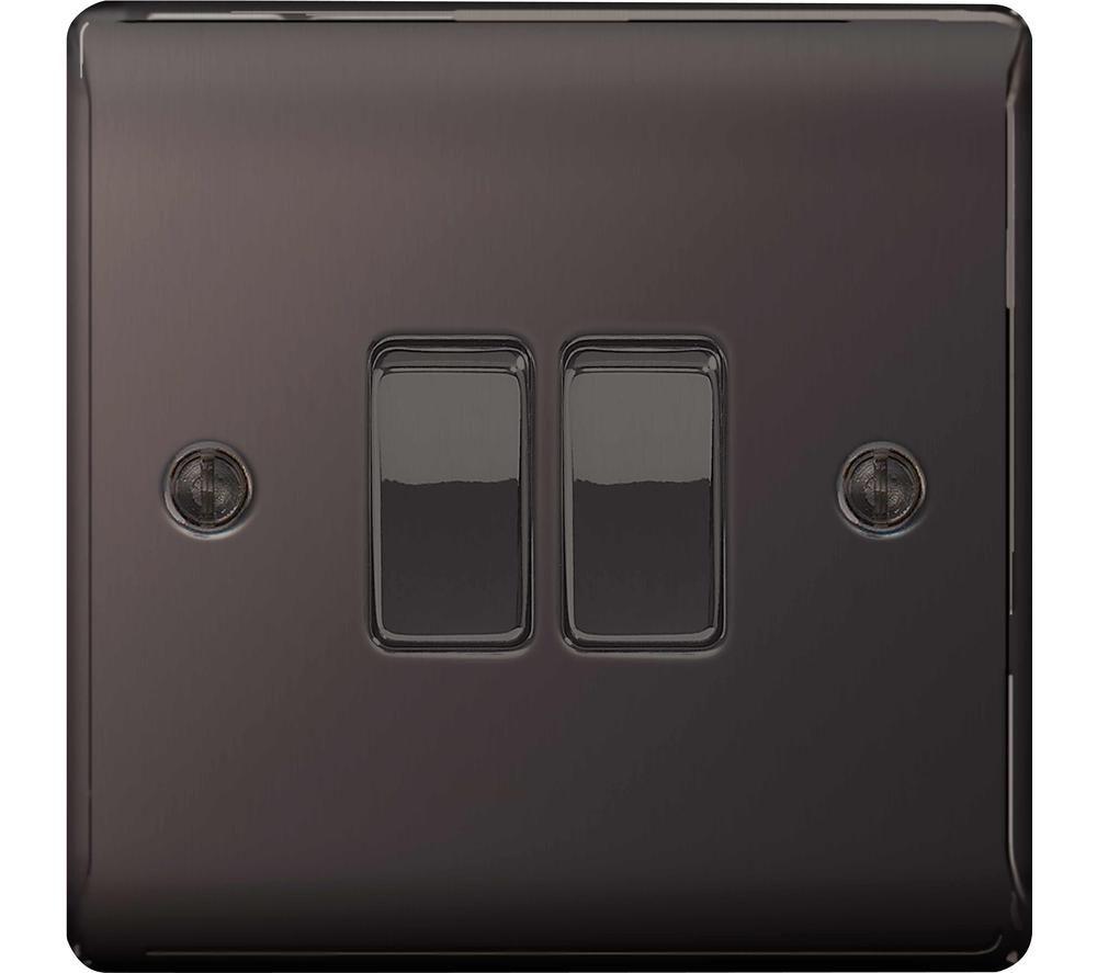 BG ELECTRICAL Decorative NBN42-01 Push-button Switch - Black Nickel