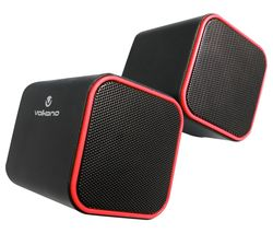 VB-702-RED Diamond Series 2 Stereo Speakers - Red, Pack of 2
