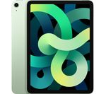 £699, APPLE 10.9inch iPad Air (2020) - 256 GB, Green, iPadOS, Liquid Retina display, 256GB storage: Perfect for saving pretty much everything, Battery life: Up to 10 hours, Compatible with Apple Pencil (2nd generation),