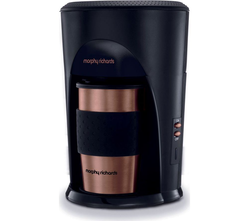 MORPHY RICHARDS Coffee on the Go 162741 Filter Coffee Machine - Black, Black