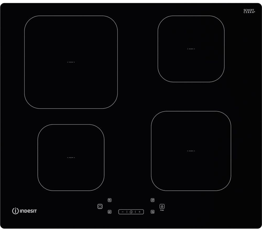 INDESIT IS 83Q60 NE Electric Induction Hob - Black, Black