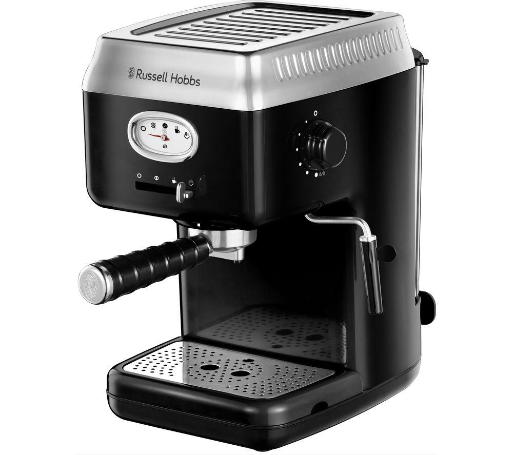 RUSSELL HOBBS Retro 28251 Espresso Coffee Machine - Black