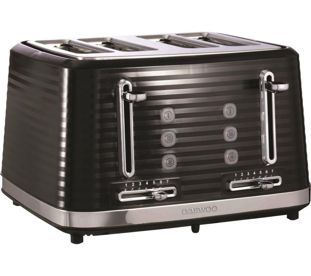 DAEWOO Hive SDA1969 4-Slice Toaster - Black