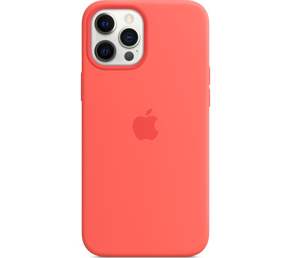 APPLE iPhone 12 Pro Max Silicone Case with MagSafe - Pink Citrus, Pink