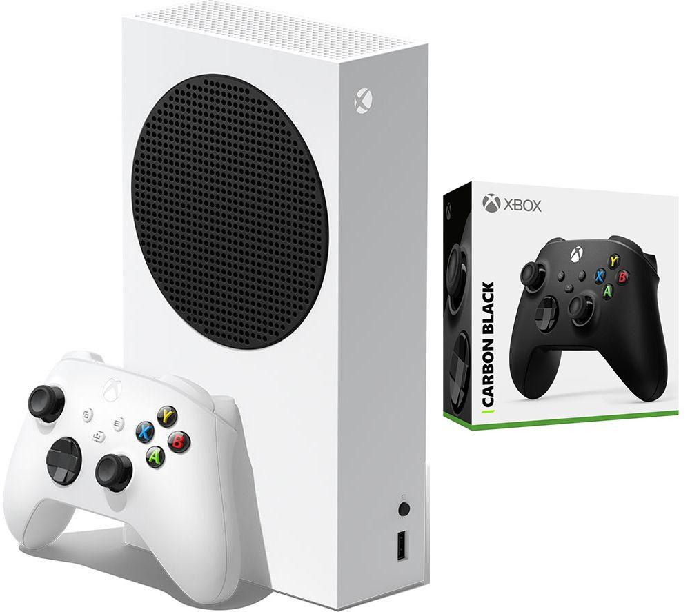 MICROSOFT Xbox Series S & Xbox Wireless Controller (Carbon Black) Bundle - 512 GB SSD, Black