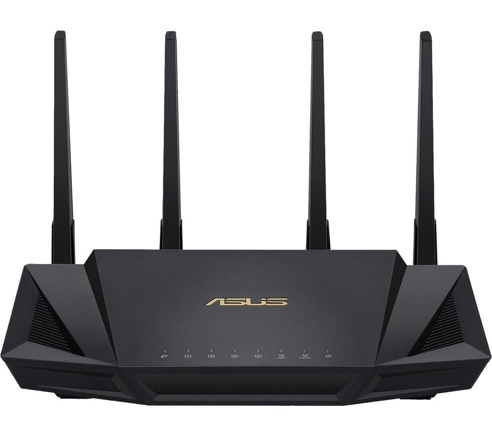 ASUS RT-AX58U WiFi Cable & Fibre Router - AX 3000, Dual-band