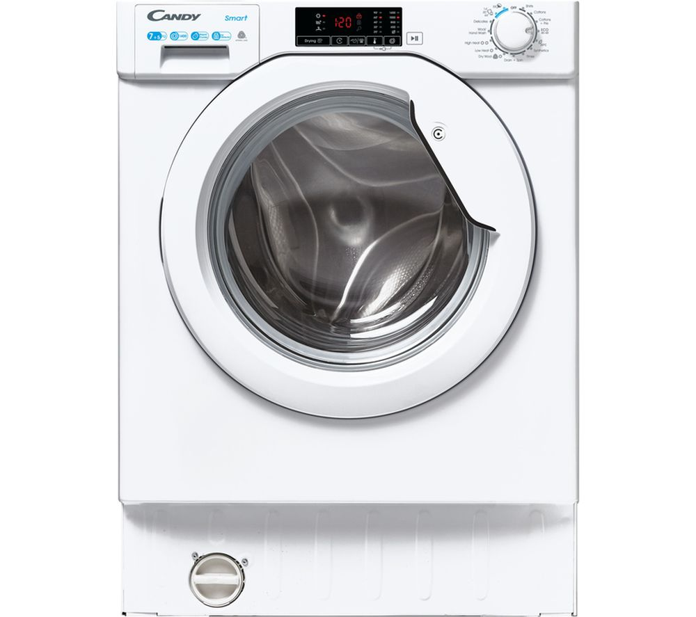 CANDY CBD 475D2E/1 Integrated 7 kg Washer Dryer - White, White