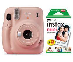mini 11 Instant Camera & 20 Shot Instax Mini Film Pack Bundle - Blush Pink