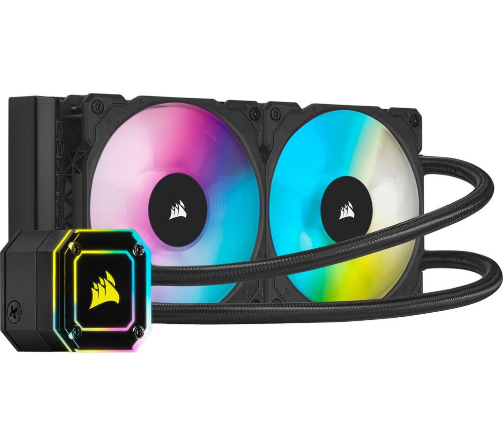 CORSAIR iCUE H100i ELITE CAPELLIX Liquid 240 mm CPU Cooler - RGB LED