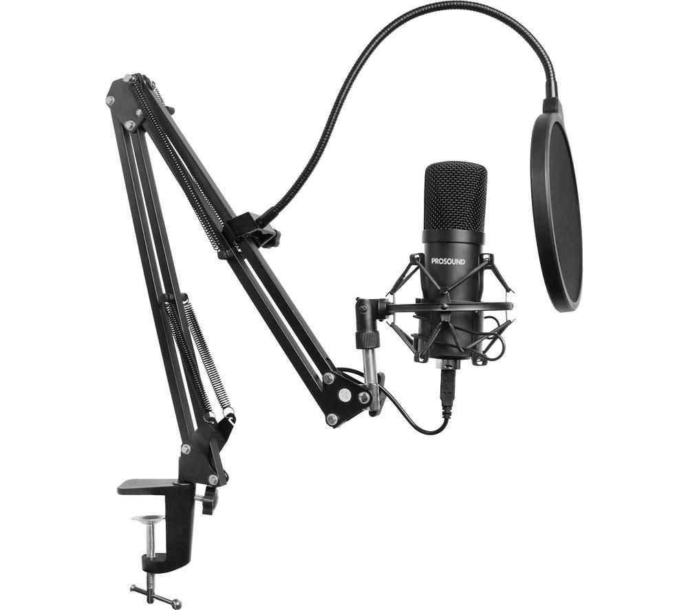 PROSOUND PROS-04AUA Microphone & Boom Arm - Black, Black