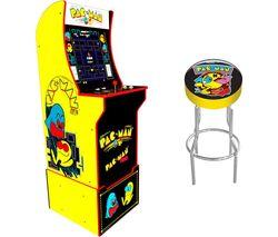 Pac-Man Arcade Cabinet & Gaming Stool Set