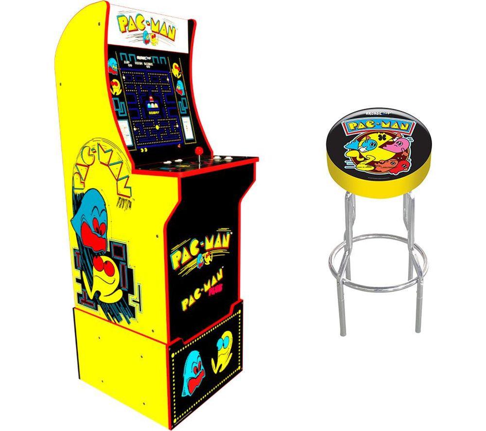 ARCADE1UP Pac-Man Arcade Cabinet & Gaming Stool Set