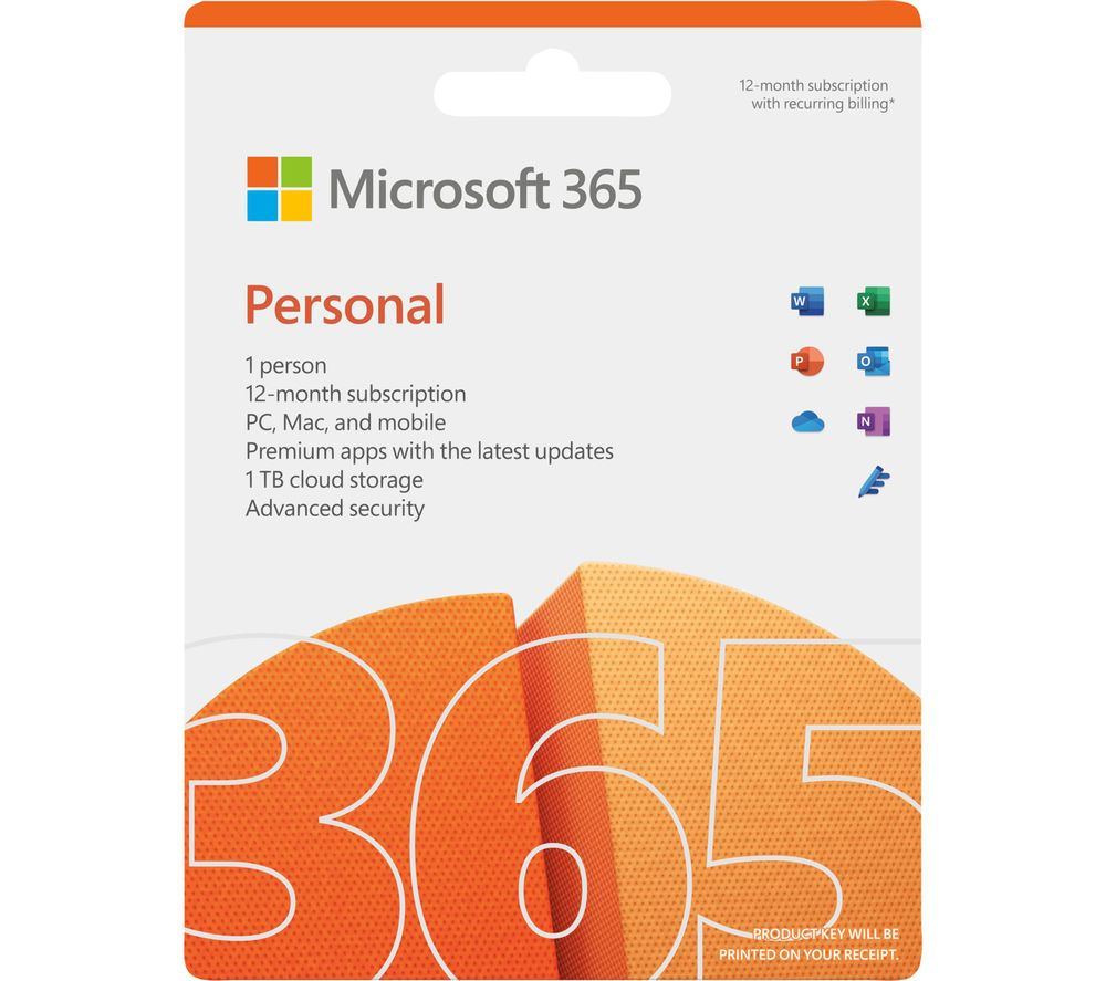 Image of MICROSOFT 365 Personal (1 year for 1 user) & LiveSafe Premium (1 year for unlimited devices) Bundle