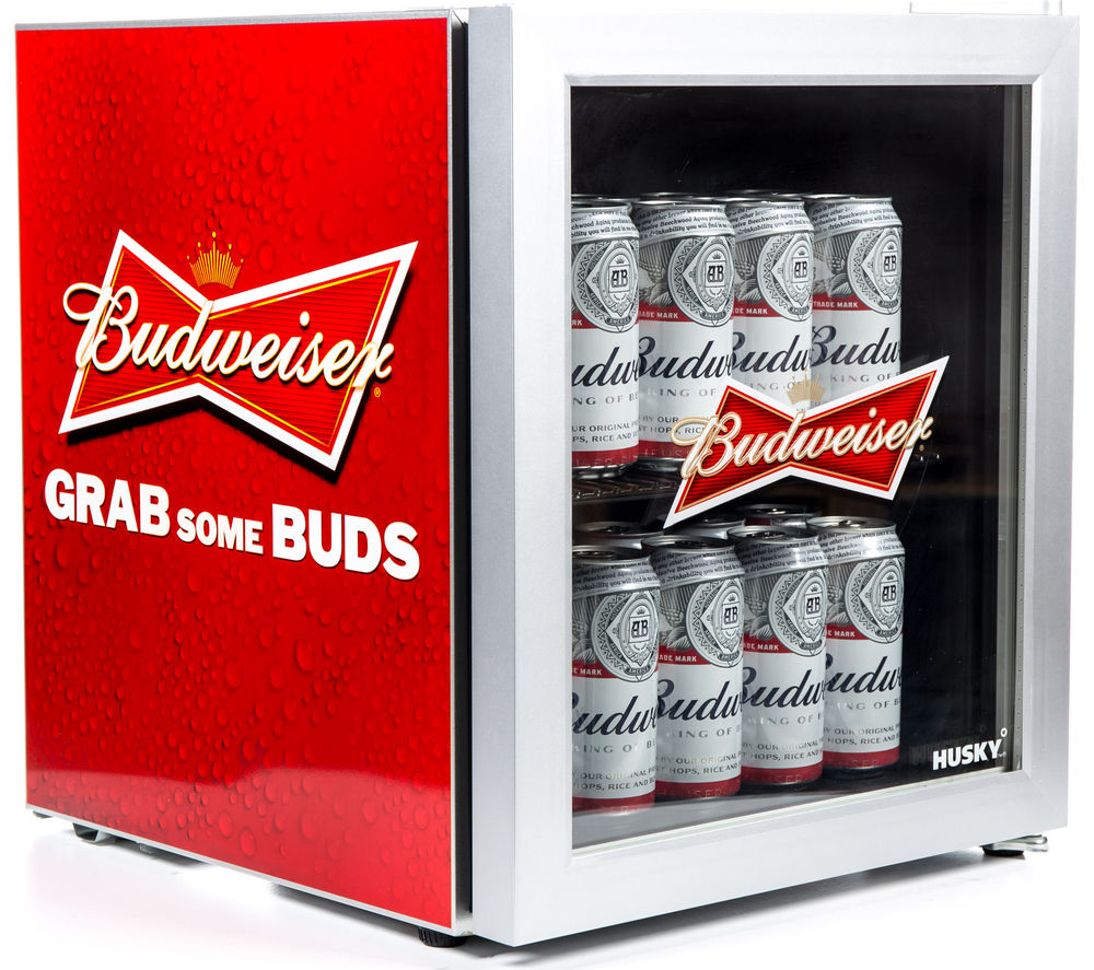 HUSKY HUS-EL202-HU Budweiser Drinks Cooler - Red