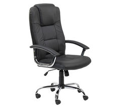 ALPHASON Houston Leather-faced Tilting Executive Chair