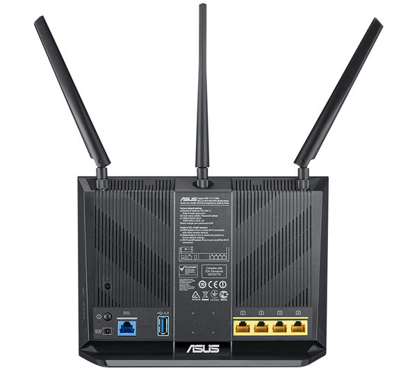 buy asus dsl ac68u wifi modem router ac 1900 dual band free delivery currys. Black Bedroom Furniture Sets. Home Design Ideas