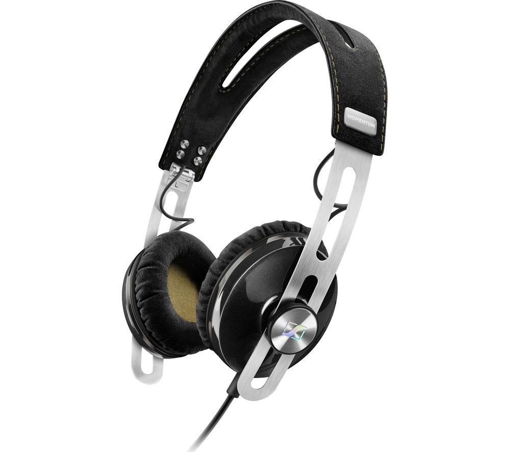SENNHEISER Momentum 2.0 i Headphones - Black + iPhone 7 Lightning to 3.5 mm Headphone Jack Adapter