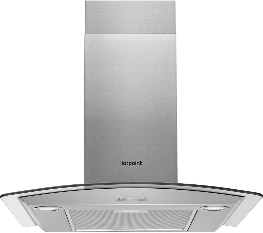 HOTPOINT PHGC7.5FABX Chimney Cooker Hood - Stainless Steel