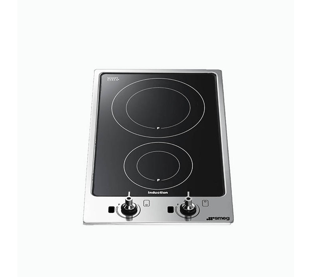 buy smeg pgf32i 1 electric induction hob black free. Black Bedroom Furniture Sets. Home Design Ideas