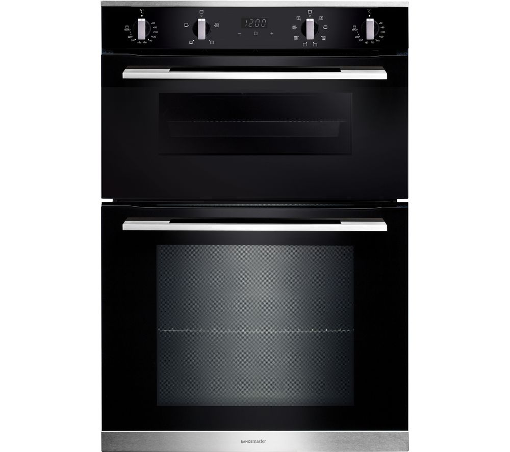 RANGEMASTER RMB9048BL/SS Electric Double Oven - Black & Stainless Steel