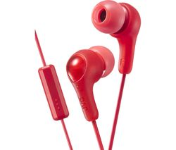 JVC HA-FX7M Gumy Plus Headphones – Red