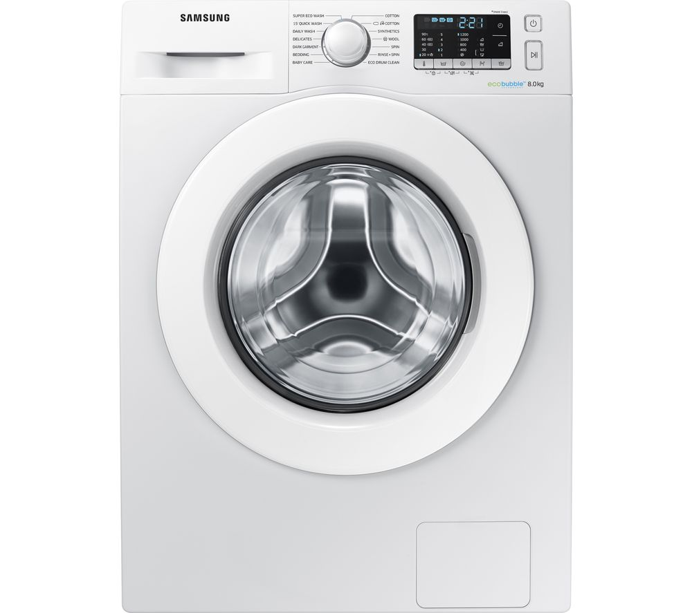 SAMSUNG ecobubble WW80J5355MW/EU 8 kg 1200 Spin Washing Machine - White