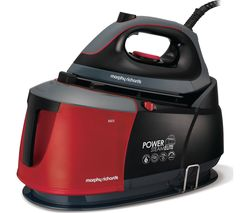 MORPHY RICHARDS Auto-Clean Power Steam Elite 332013 Steam Generator Iron - Black & Red
