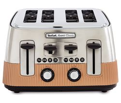 TEFAL Avanti Classic 4-Slice Toaster - Copper