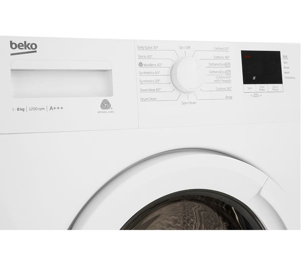 Buy Beko Wtb820e1w 8 Kg 1200 Spin Washing Machine White Free