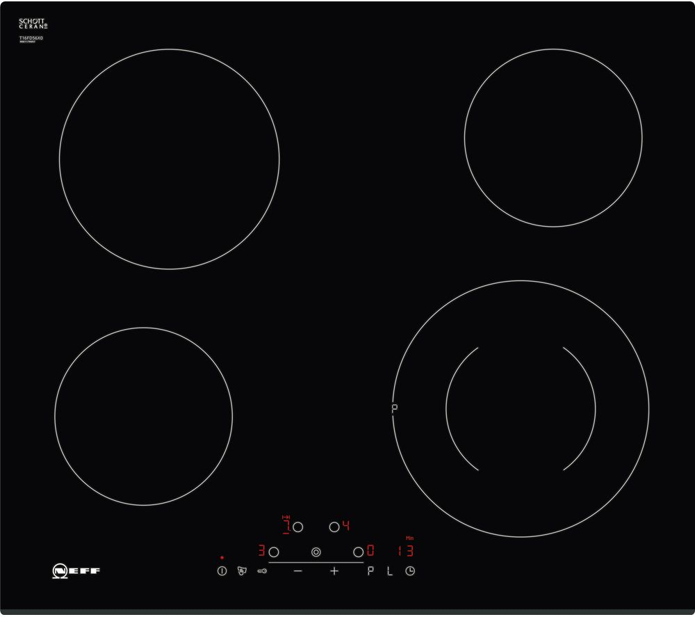 buy neff t16fd56x0 electric ceramic hob black free delivery currys rh currys co uk Gas Hob Electric Ceramic Hobs UK