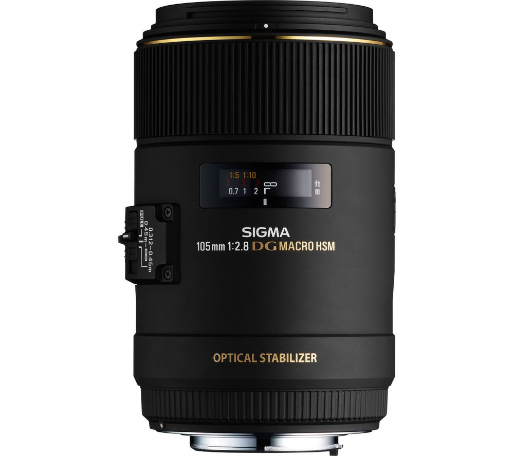 SIGMA 105 mm f/2.8 EX Macro DG HSM Standard Prime Lens - for Canon