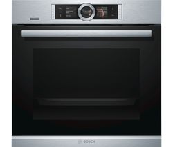 BOSCH Serie 8 HBG656RS6B Electric Smart Oven - Black & Stainless Steel