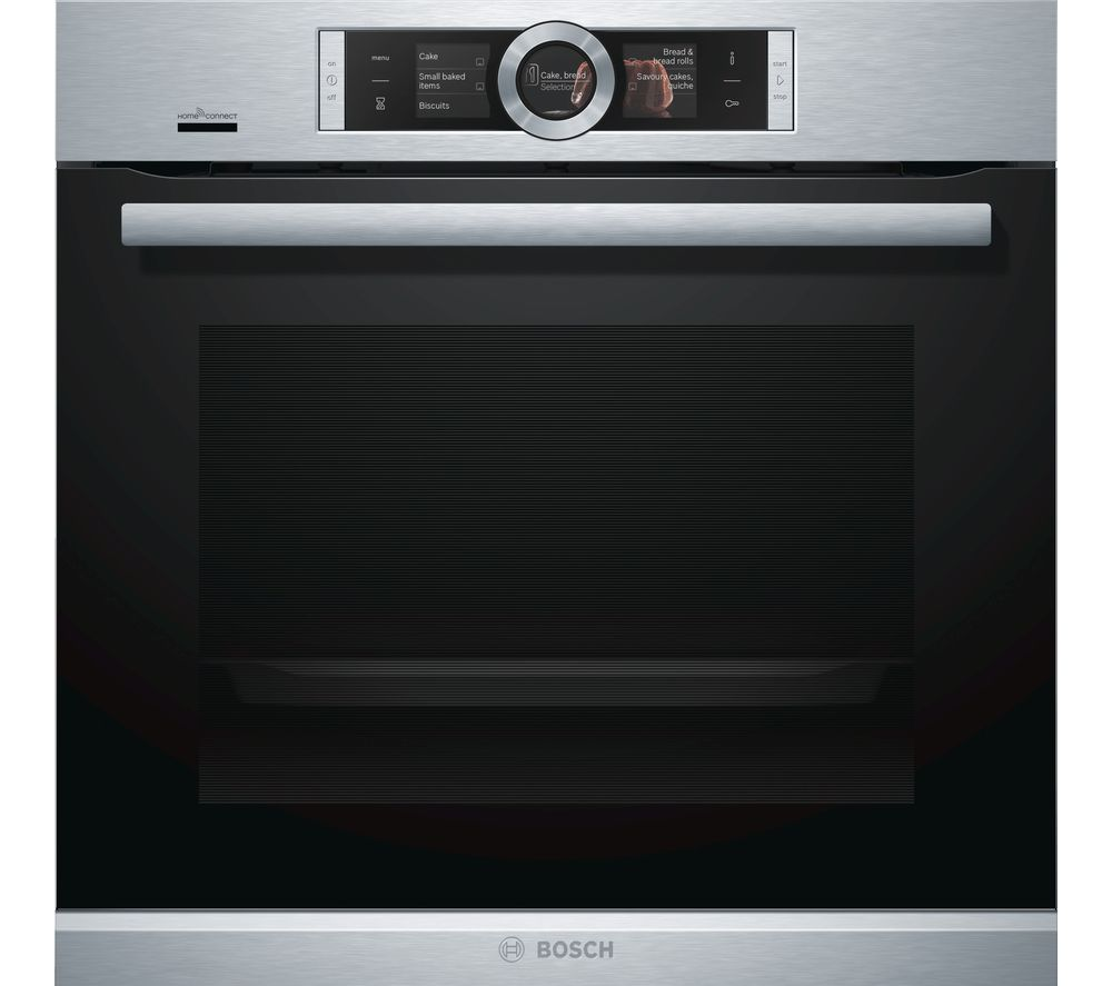 buy bosch serie 8 hbg656rs6b electric smart oven black. Black Bedroom Furniture Sets. Home Design Ideas