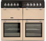 LEISURE Chefmaster CC100F521C 100 cm Dual Fuel Range Cooker - Cream & Black