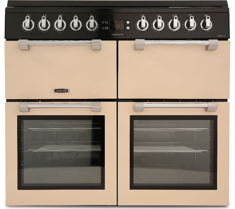 LEISURE Chefmaster CC100F521C 100 cm Dual Fuel Range Cooker - Cream & Black