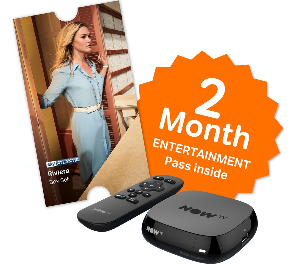 NOW TV Box with 2 month Entertainment Pass & Sky Store Voucher