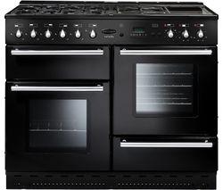 RANGEMASTER Toledo 110 Dual Fuel Range Cooker - Black & Chrome