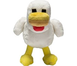 "MINECRAFT Chicken Plush Toy with Hang Tag - 7"", White & Yellow"