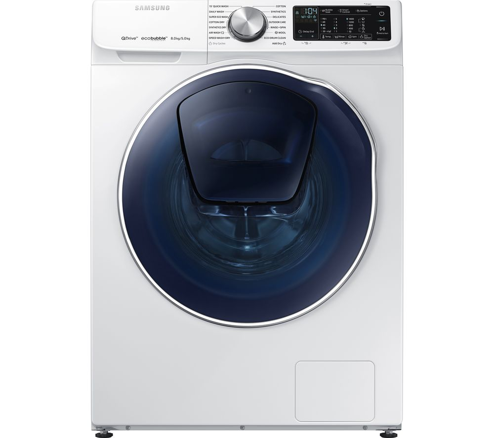 SAMSUNG QuickDrive + Addwash WD80N645OOW Smart 8 kg Washer Dryer - White