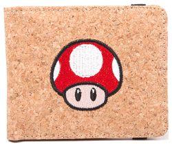 NINTENDO Super Mario Mushroom Cork Bifold Wallet - Brown