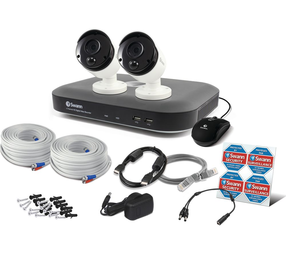 SWANN SWDVK-449802 4-Channel Full HD Smart Home Security System