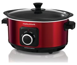 MORPHY RICHARDS Evoke Sear & Stew 460014 Slow Cooker - Red Best Price, Cheapest Prices