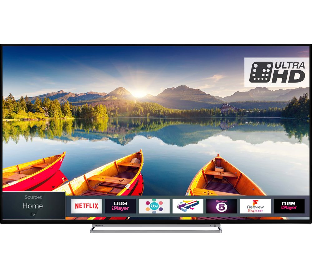 "55""  TOSHIBA 55U6863DB Smart 4K Ultra HD HDR LED TV, Grey"