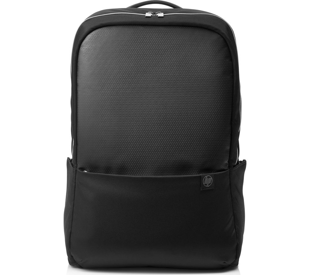 "Image of HP 15.6"" Pavilion Accent Backpack - Black & Silver, Black"