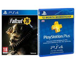 PS4 Fallout 76 & PlayStation Plus 12 Month Subscription Bundle