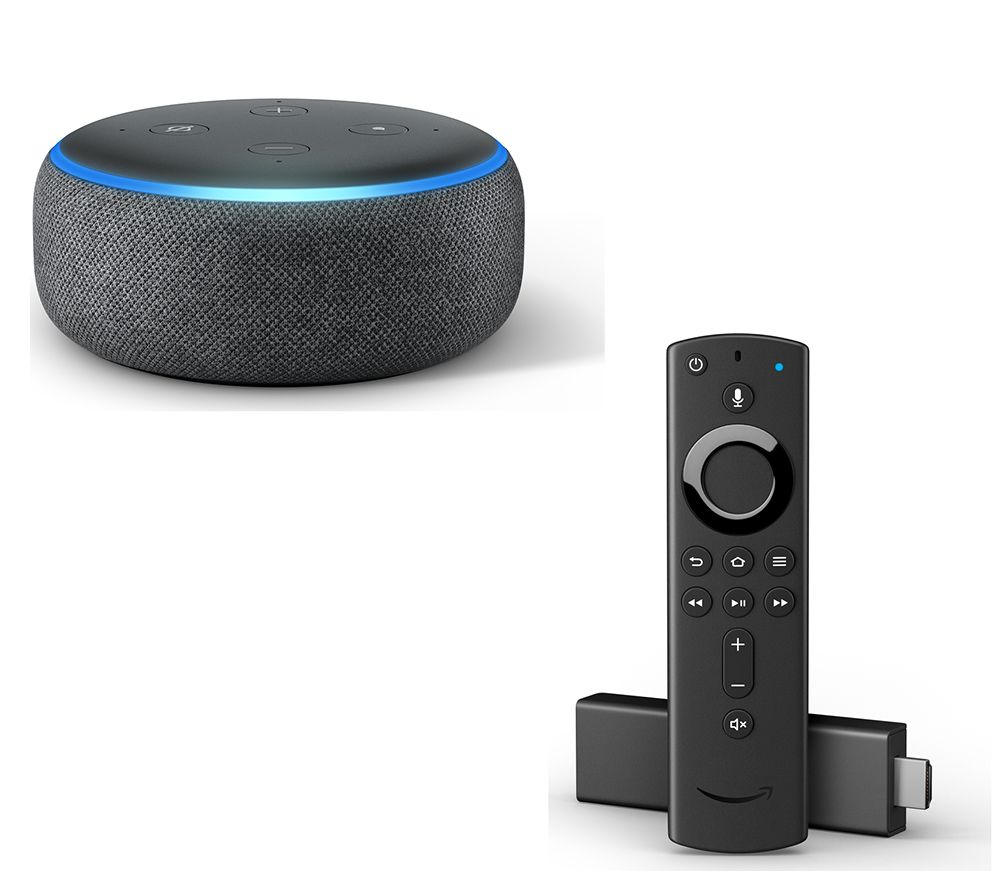 buy amazon echo dot 2018 fire tv stick with alexa. Black Bedroom Furniture Sets. Home Design Ideas